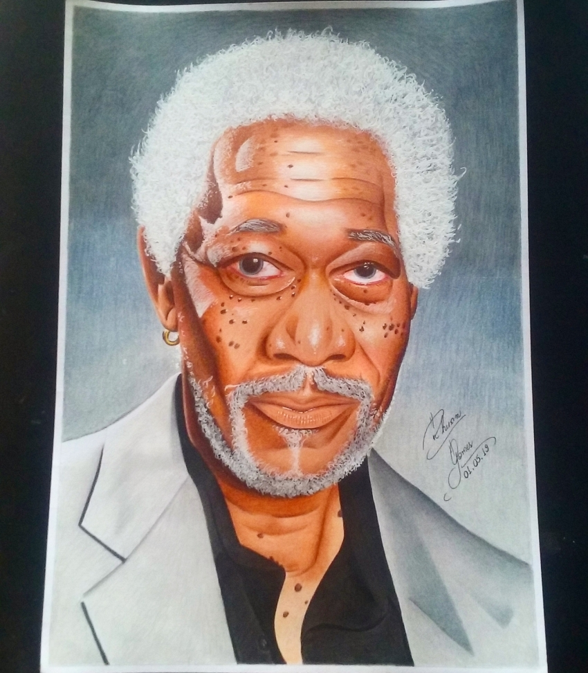 Morgan Freeman by RhuanG
